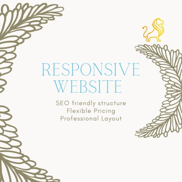 We will develop responsive and attractive website
